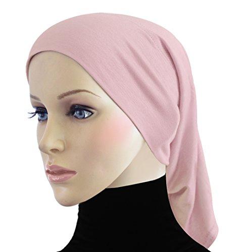 Khatib Beanie Chemo Cap Cotton Underscarf Tube Hijab Caps (Pink)