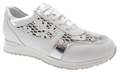 Blanco Zapatos Mujer Para Cordones Bianco De Loren wTdqZFXZ