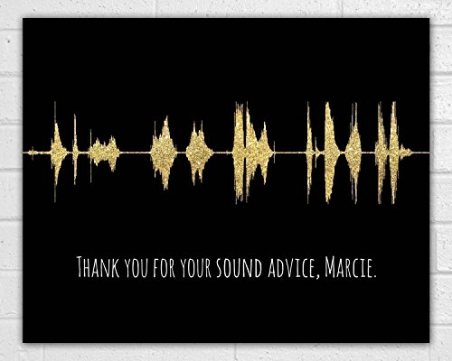 Soundwave Unframed Art Print - Custom Sound Wave - Wave Art - Wall Decor - Christmas, Birthday, Mother's Day, Father's Day Gift -
