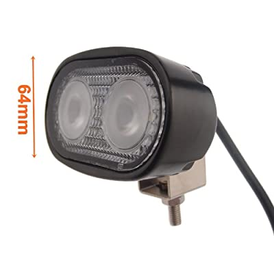 Led Village 20w Flood Beam Cree LED Work Off Road Light Fog Driving Lamp for 4wd Offroad SUV Car Jeep Truck Trailer Tractor