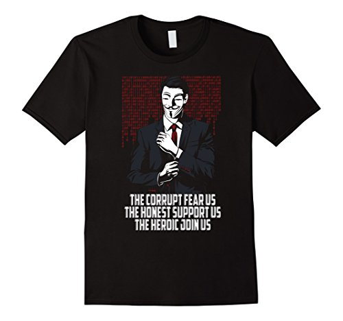 Clothing Corrupt (Men's The corrupt fear us - Anonymous Medium Black)