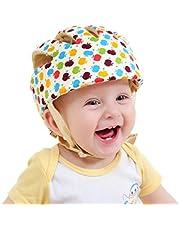 TMSL Newcomdigi Casco de Seguridad para Bebé Niño Infantil Gorra Antigolpes Sombrero para Proteger Cabeza Aprender Gatear Andar Caminar Correr Jugar Bicicleta con Ajustable Arnés de Protección Colorido
