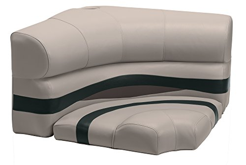 (Wise Premier Series Pontoon 32-Inch Radius Corner Seat, Cushions Only, Mocha Java/Mocha Java Punch/Evergreen/Rock Salt)