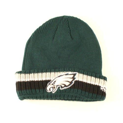 Philadelphia Eaglesリブ編み3-stripeカフビーニー帽子Toque   B0773222TQ