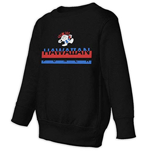 Xgbb Hawaiian Fruit Punch Toddler Long Sleeve Pullover Sweatshirt Little Boys' Sweatshirt Black 4T ()