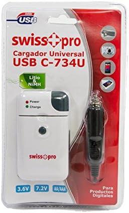 Cargador universal USB para pilas litio y NiMH 3.6 V y 7,2 V para ...