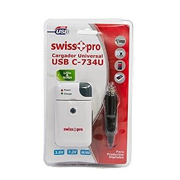 Cargador universal USB para pilas litio y NiMH 3.6 V y 7,2 V ...