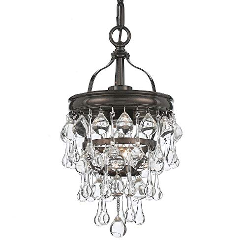 Crystorama 131-VZ Crystal One Light Ceiling Mount from Calypso collection in Bronze/Darkfinish,