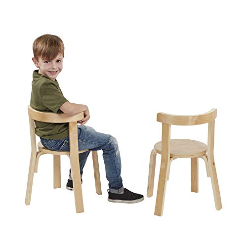 ECR4Kids Bentwood Curved Back Table and Chair Set,�Premium Kids Wooden Furniture for Homes, Daycares and Classrooms, Natural