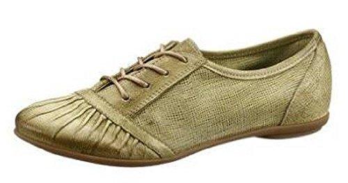 Mjus Schnürschuh - Zapatos de Cordones de cuero Mujer verde - verde