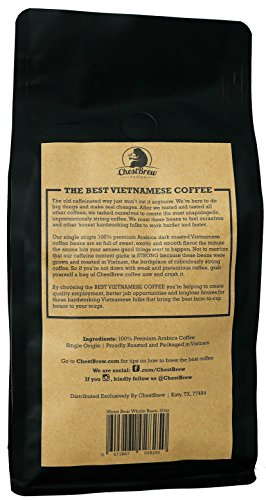 Chestbrew Whole Bean Coffee Strong Dark Roast Vietnamese
