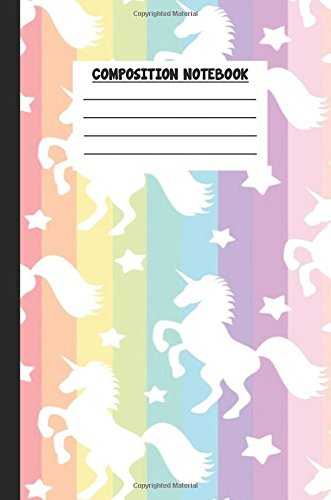 Download Composition Notebook: Awesome Unicorn Composition Notebook Wide Ruled 6 x 9 in, 108 pages book for boys, kids, school, students and teachers (Unicorn Composition Books) pdf epub