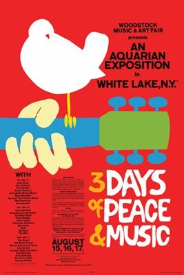 Woodstock Red Poster  PSA009642
