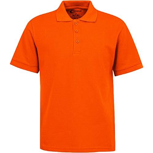 (Boys Uniform Polo Shirt Orange XS 5/6)