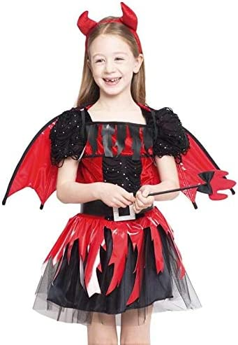 Disfraz Diablesa Alada Vinilo para Niña Halloween (7-9 años) (+ ...