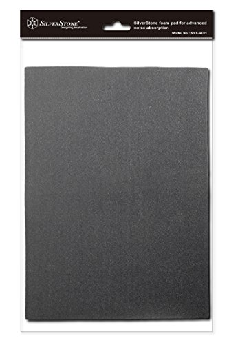 SilverStone 21-Inch x 15-Inch 4mm Thick 2-Piece Sound Dampening Acoustic EP0M Silent Foam SF01 (Black) by SilverStone Technology