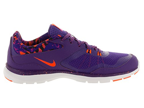 Nike Vrouwen Flex Trainer 5 Afdruk Training Schoen Rechtbank Paars / Hyper Oranje / Levendig Paars
