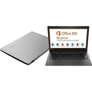 "2017 Model Lenovo Ideapad 14"" HD LED Backlight Laptop PC, Intel Celeron Dual Core N3050 Processor 1.6GHz, 2GB RAM, 64GB SSD, HDMI, Webcam,1 Year Office 365 Personal, Silver, Windows 10 Home"