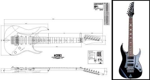 Plan de Ibanez Universo (7 cuerdas Guitarra eléctrica – escala completa impresión: Amazon.es: Instrumentos musicales