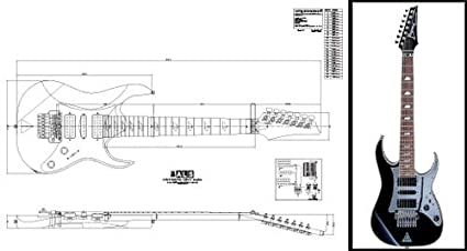 Plan de Ibanez Universo (7cuerdas Guitarra eléctrica–escala completa impresión