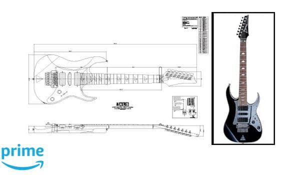 Plan de Ibanez Universo (7 cuerdas Guitarra eléctrica - escala completa impresión: Amazon.es: Instrumentos musicales