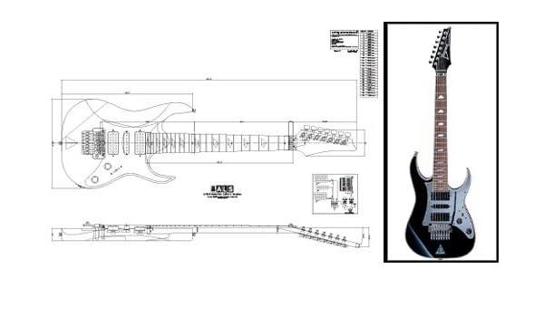 Plan de Ibanez Universo (7 cuerdas Guitarra eléctrica – escala ...