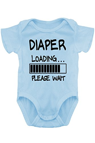 Aiden's Corner - Funny Baby Boy / Girl Onesies (0-3 Months, Diaper-Loading Carolina) (Boys Diaper Shirt)