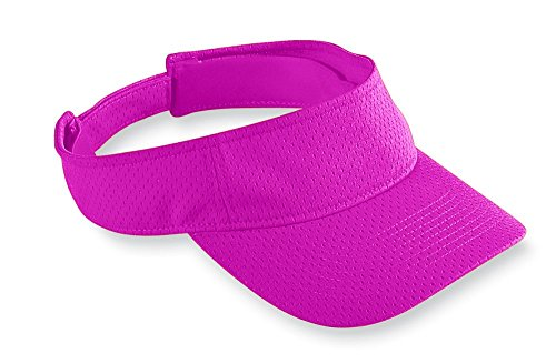 (Augusta Sportswear Athletic Mesh Visor, Power Pink, One Size)