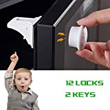 Magnetic Baby Proofing, Besthome Childproof Cabinet Locks Child Safety Latch Magnetic Cabinet Locks Baby Must Haves Baby Proof for Desk Drawers (12 Pack Locks)