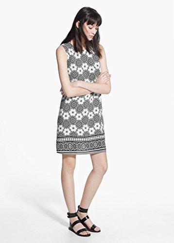 Mango Women's Print Dress, Black, 4