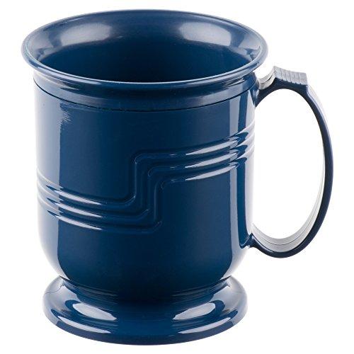 Cambro MDSM8497 Shoreline Collection Mug, 8 Ounce, Navy Blue, Plastic, NSF - 48 / CS