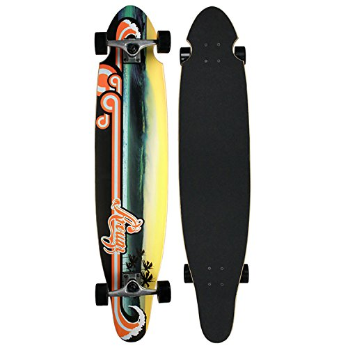 Krown Wave Sunset Complete Longboard Skateboard ()
