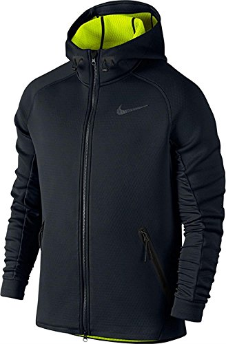 Therma Fit Jacket - Nike Men's Tech Therma-Sphere Max Training Jacket Black/Volt Small