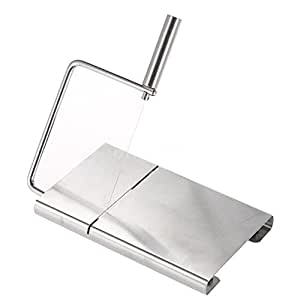 Cheese Cake Slicer Cutter Stainless Steel Blade& Serving Board Kitchen Tool
