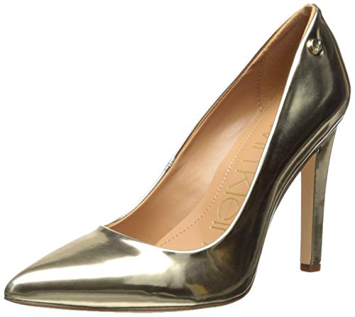 (Calvin Klein Women's Brady Pump Gold/Metallic 8 M US)