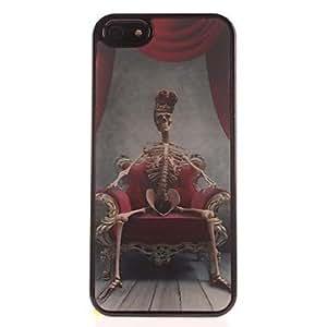 JAJAY 3D Image Horrible Skeleton PC Hard Case for iPhone 5/5S