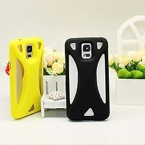 GX Teléfono Móvil Samsung - Cobertor Posterior - Color Sólido/Diseño Especial - para Samsung S5 i9600 ( Negro/Blanco/Rojo/Verde/Azul/Amarillo , TPU ) , Yellow
