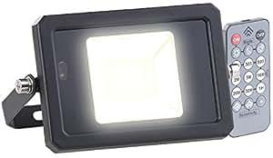 Luminea–Foco para exteriores (Sensor de movimiento, Radar, mando a distancia, 10W