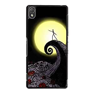 Anime The Nightmare Before Christmas Phone Case for Sony Xperia Z3,Dreamlike Design Style The Nightmare Before Christmas Cover Skin Cover for Sony Xperia Z3
