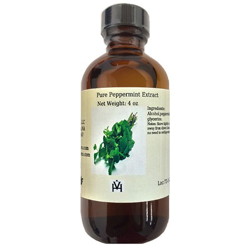 OliveNation Pure Peppermint Extract - Best Baking and Cooking Extract with Strong Flavor – Size of 4 oz