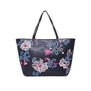 Desigual Bag Orangina Capri Zipper Women – Borse a spalla Donna, Blu (Navy), 13x28x30 cm (B x H T)
