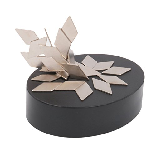 AblueA Magnetic Sculpture Desk Toy Coffee Table Piece As Office Gift Stocking Stuffer (Oval Base – Rhombus)