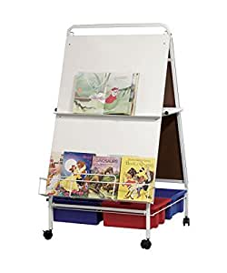 """Best-Rite Baby Folding Easel With Tubs and Tub Rack, 57""""H x 30.5""""W x 34""""D, 784T"""