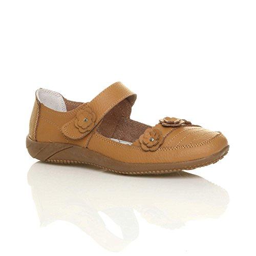 Chameau Chaussures Classique Femme Fermeture Pour Velcro De Marche Confort Clair Cuir Sandales Un Brun 4AYqOZvxw