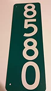 Green and White Mailbox Sign