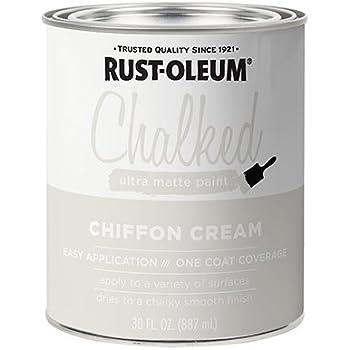 RUST-OLEUM 329598 30 OZ Chiffon Cream, Chalked Paint