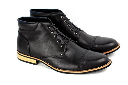 Caballeros Informal Botines moda Motociclista Zapatos Negro