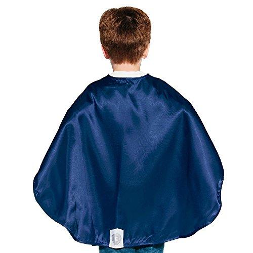 [Navy Blue Polyester Satin Superhero Cape - Kids] (Superheroes For Kids)