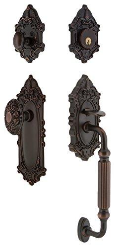 Backset Victorian Glass - Nostalgic Warehouse 719393 Victorian F Grip Entry Set, Backset - 2.375