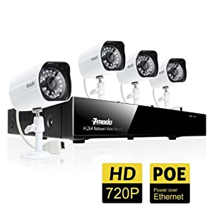 Amazon Com Zmodo 4ch 720p Network Video Recorder W Poe